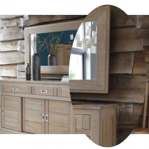 miroir contemporain ch ne massif pour buffet 4 portes milano le d p t des docks. Black Bedroom Furniture Sets. Home Design Ideas