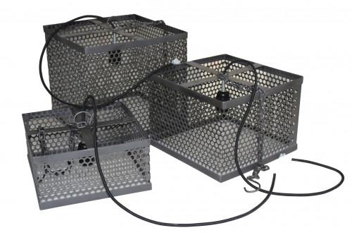Set de 3 suspensions de style industriel en métal ajouré