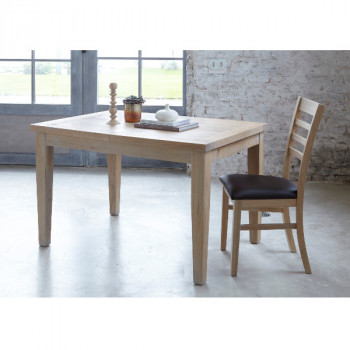 Table rectangulaire extensible 125 contemporaine chêne massif MILANO