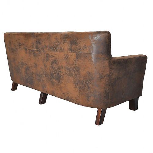 canap vintage montreal 3 places en tissu microfibre imitation cuir vieilli le d p t des docks. Black Bedroom Furniture Sets. Home Design Ideas