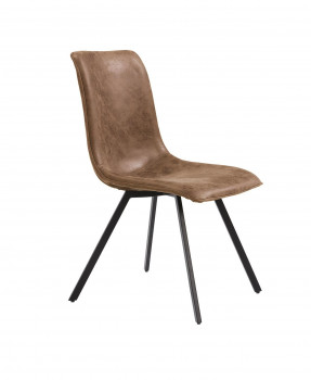Chaise Calgary design et industrielle - Tissu brun