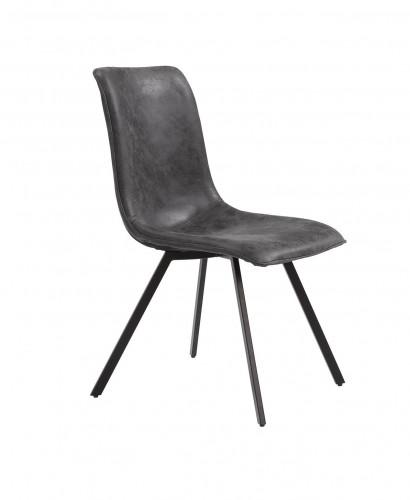 Chaise industrielle design CALGARY - Noire
