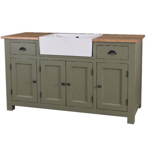 Meuble de cuisine avec évier intégré - 4 portes et 2 tiroirs