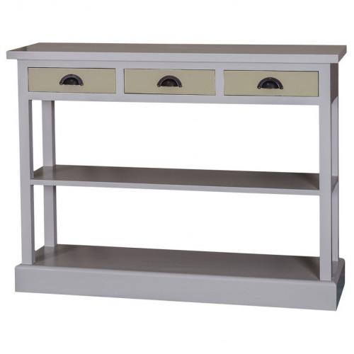 Console 3 tiroirs et 1 étagère