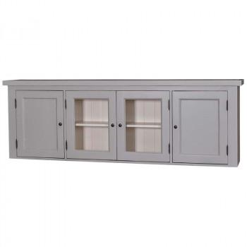 Meuble haut de cuisine - 2 portes vitrées et 2 placards