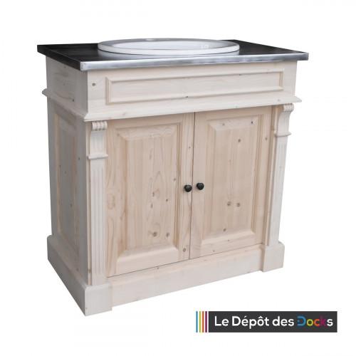 Meuble de salle de bains de style Louis XVI - 1 vasque