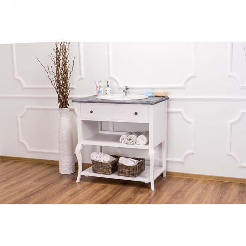 Meuble de salle de bains - 1 tiroir et 2 étagères