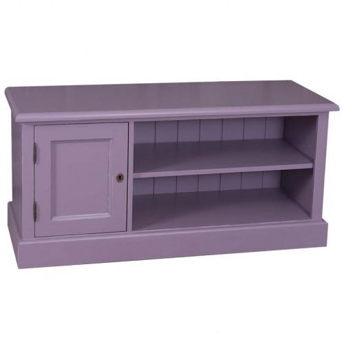 Meuble TV avec 2 étagères et 1 placard