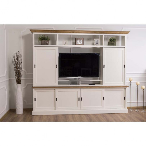 Grand Meuble TV - 4 portes coulissantes - 246 cm