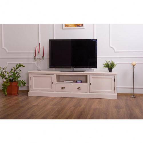 Meuble télé avec rangements - 200 cm