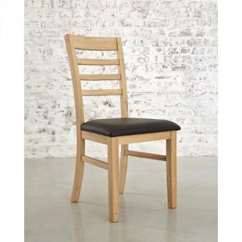 Chaise 4 barrettes contemporaine chêne massif MILANO