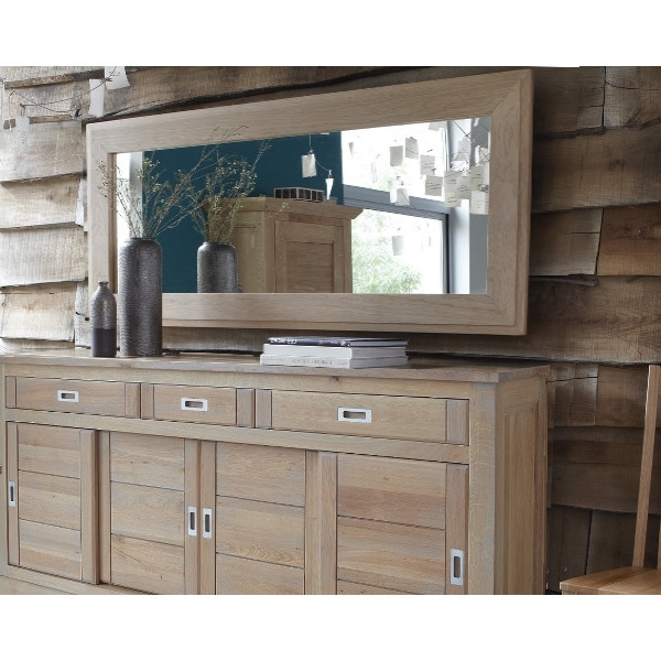 miroir contemporain ch ne massif pour buffet 4 portes milano le d p t des docks. Black Bedroom Furniture Sets. Home Design Ideas