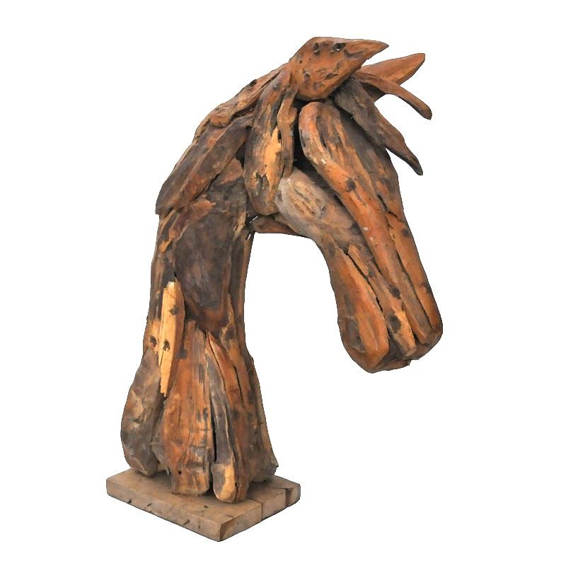 buste ou t te de cheval en bois flott le d p t des docks. Black Bedroom Furniture Sets. Home Design Ideas