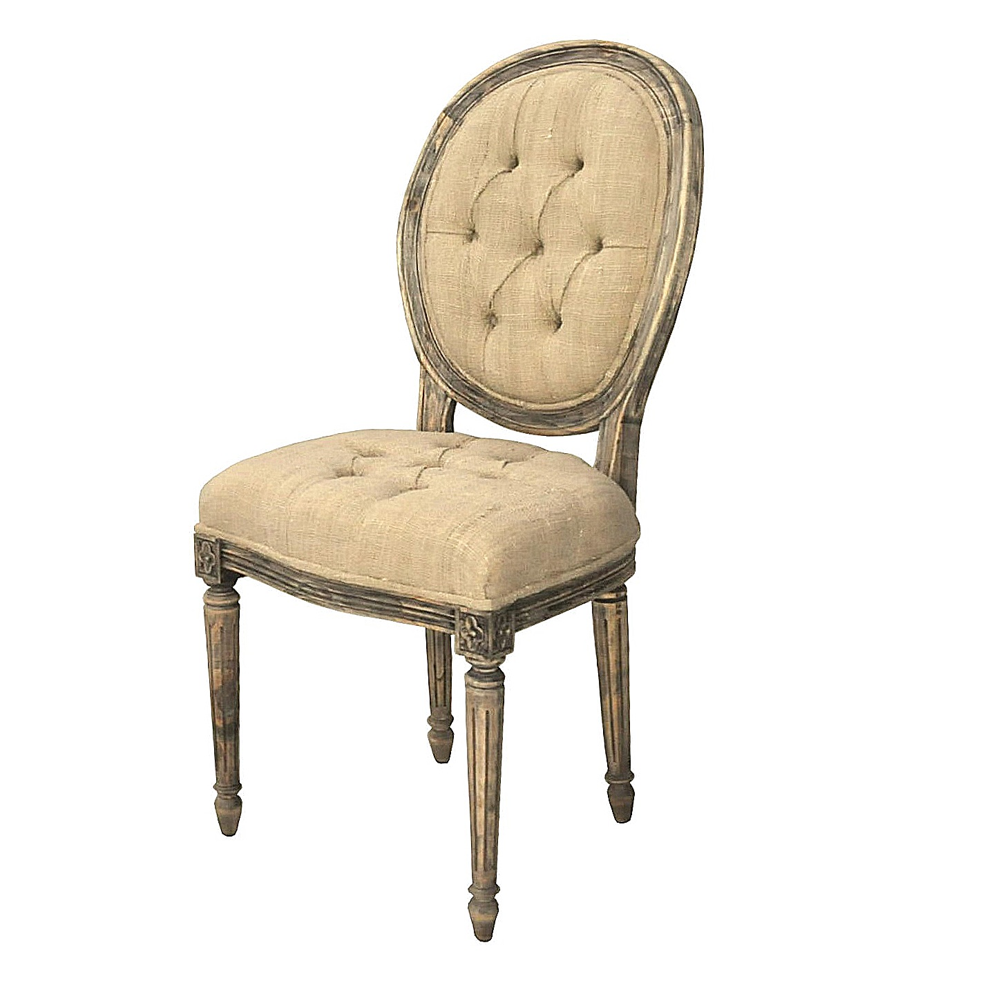 chaise apolline de style louis xvi dossier m daillon capitonn e toile de jute le d p t des docks. Black Bedroom Furniture Sets. Home Design Ideas