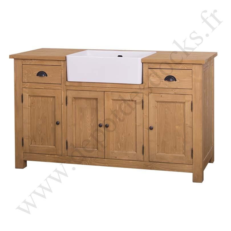 meuble de cuisine avec vier int gr 4 portes et 2 tiroirs le d p t des docks. Black Bedroom Furniture Sets. Home Design Ideas