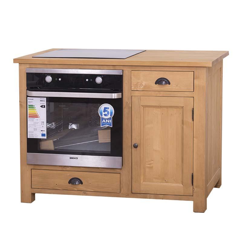 Meuble de cuisine pour four encastrable et plaque de cuisson avec placard le d p t des docks - Plaque fond de meuble ...