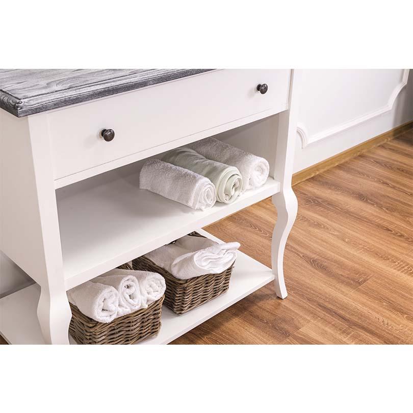 Meuble de salle de bains 1 tiroir et 2 tag res le for Meuble salle de bain 1 tiroir