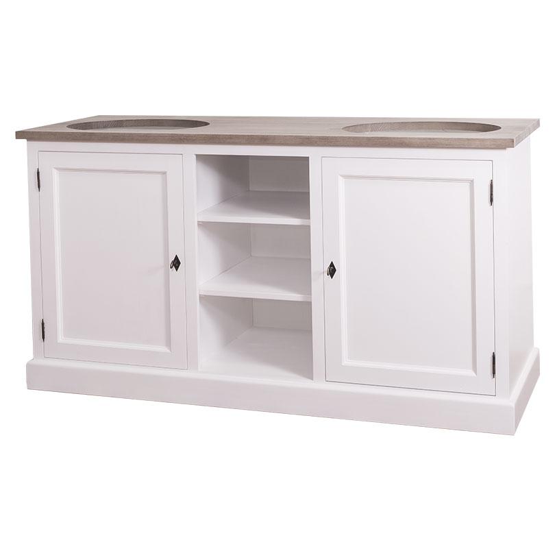 meuble double vasque avec placards et tag res le d p t. Black Bedroom Furniture Sets. Home Design Ideas