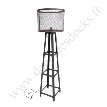 Grande Lampe Vintage industrielle en métal