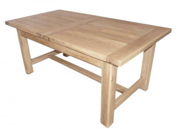 Table de ferme 180 DUBLIN plateau coulissant + 2 allonges de 38cm
