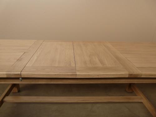 Table de ferme 210 DUBLIN plateau coulissant + 2 allonges de 38cm