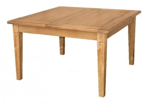 Table de repas carrée 125 DUBLIN + 1 allonge de 50cm