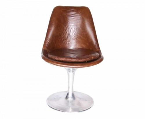 Chaise vintage en cuir pleine fleur AVIATEUR
