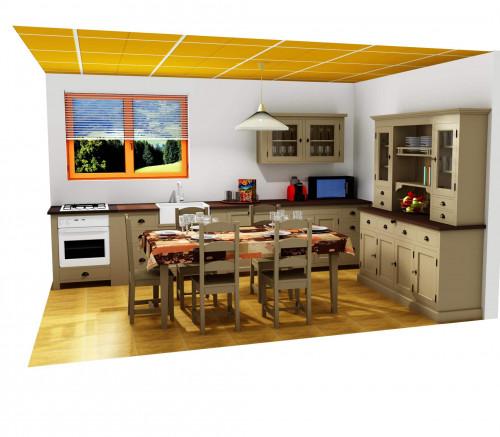 Plan 3D d'une cuisine complète