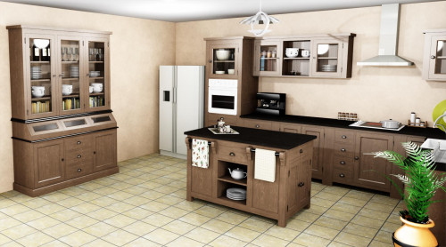 projet 3d cuisine am nag e le d p t des docks. Black Bedroom Furniture Sets. Home Design Ideas