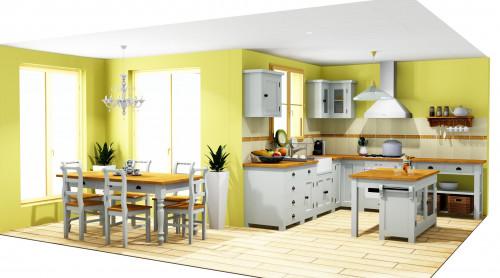 Cuisine complète - plan 3D