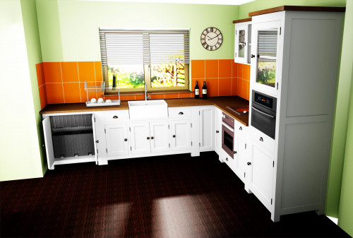 Colonne de cuisine ROMANE avec emplacement pour un four encastrable - 76x65x220 cm