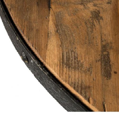 Mange Debout Vintage industrielle métal & Vieux Bois réglable Ø90 cm
