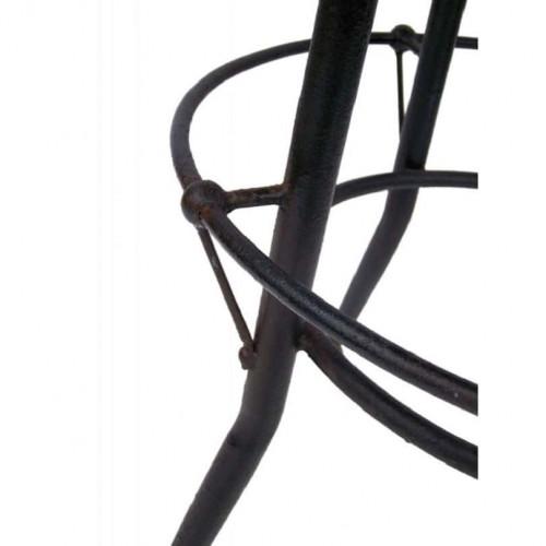 Mange debout réglable vintage industriel métal & Vieux Bois