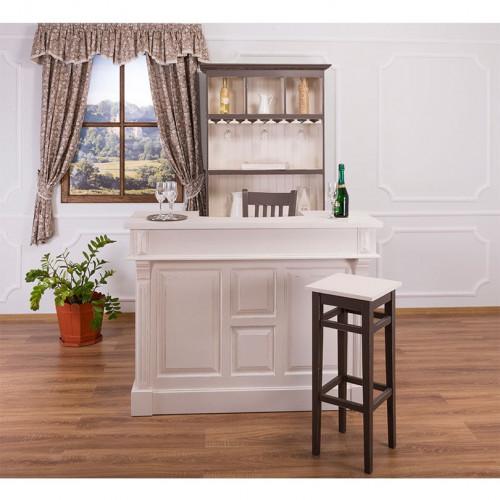 Tabouret de bar assise carrée - hauteur : 82 cm