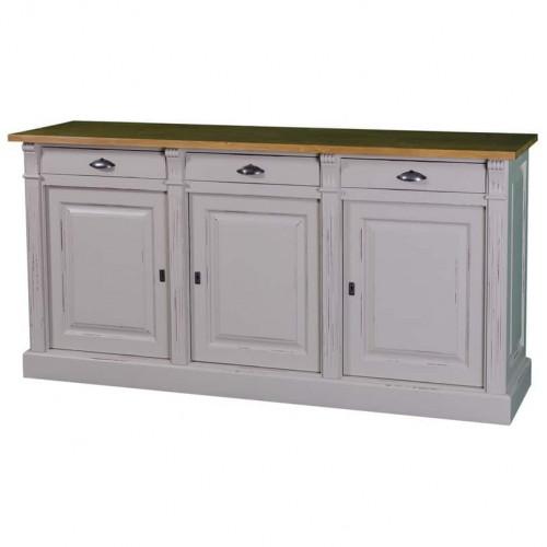 Buffet de style Louis XVI 3 portes 3 tiroirs ROMANE