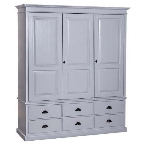 Armoire 3 portes et 6 tiroirs ROMANE