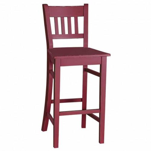 Tabouret de bar ou chaise haute avec dossier incurvé