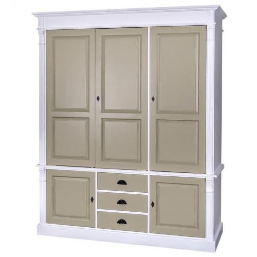 Armoire 5 portes et 3 tiroirs ROMANE