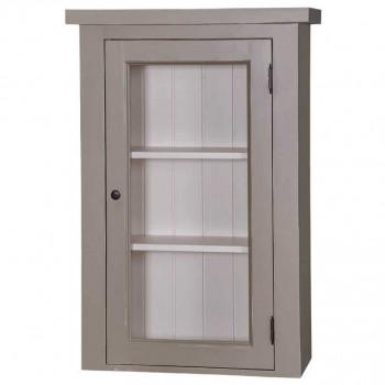 Meuble haut de cuisine -  1 porte vitrée et 2 étagères