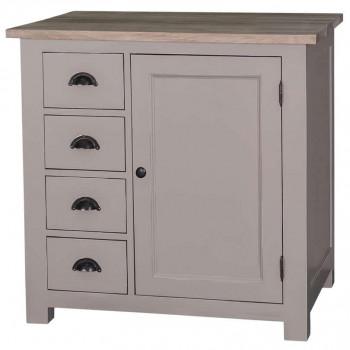 Meuble bas de cuisine avec un placard et 4 petits tiroirs