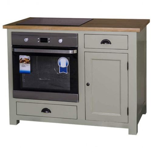 Meuble de cuisine ROMANE pour Four encastrable et Plaque de cuisson - 120x65x90 cm