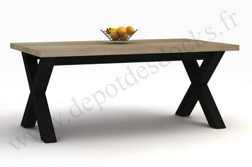 table manger contemporaine 220x100cm calgary le d p t. Black Bedroom Furniture Sets. Home Design Ideas