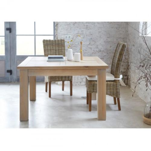 Table de Repas carrée extensible contemporaine en chêne massif MILANO