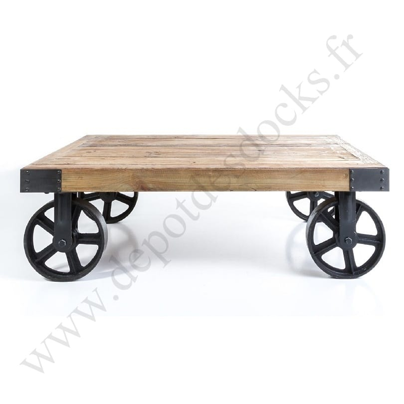 table basse roue trendy duune table basse palette avec. Black Bedroom Furniture Sets. Home Design Ideas