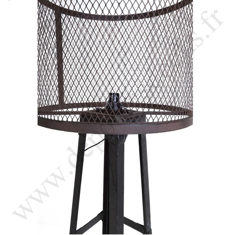 grande lampe vintage industrielle en m tal le d p t des. Black Bedroom Furniture Sets. Home Design Ideas