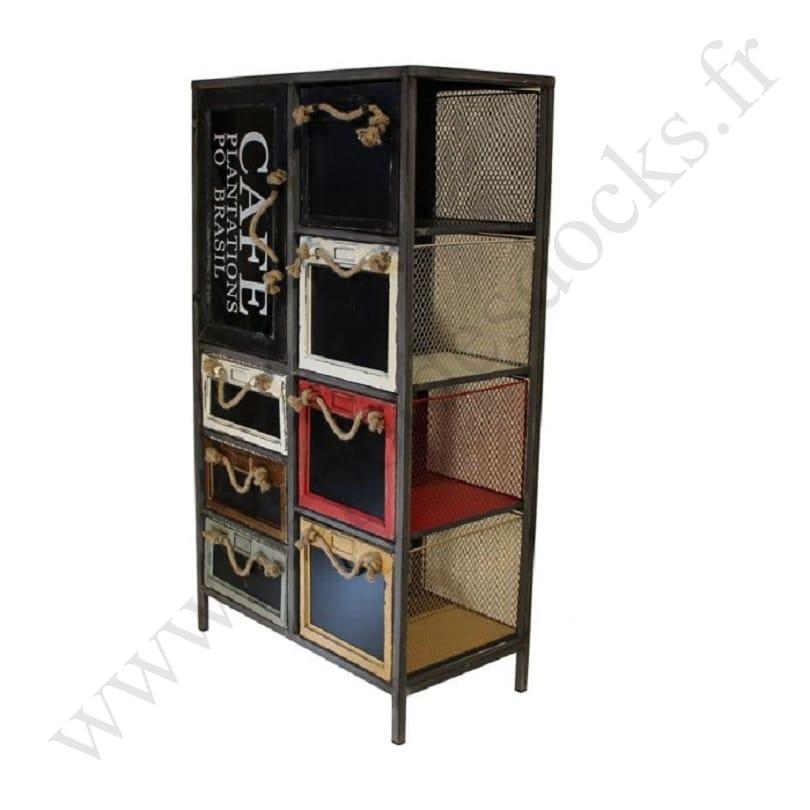 rangement mtallique industriel finest meuble rangement chaussures industriel bois massif et. Black Bedroom Furniture Sets. Home Design Ideas