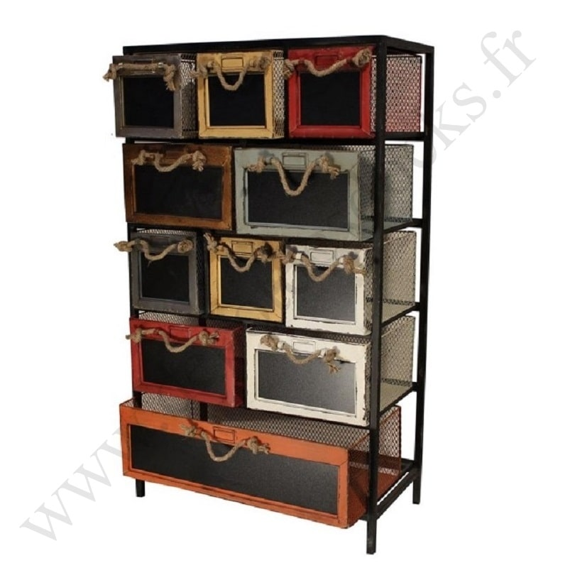 meuble de rangement vintage industriel en m tal le d p t des docks. Black Bedroom Furniture Sets. Home Design Ideas