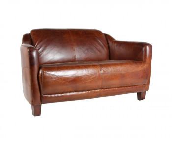 Canapé OXFORD en cuir vieilli