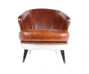 Le fauteuil Solin en cuir et en aluminium