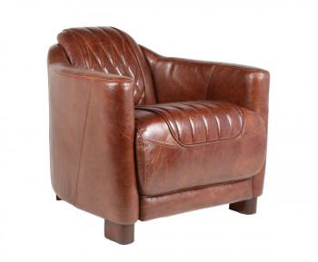 Fauteuil Cabriolet «LE PRESTIGIEUX» en cuir vieilli